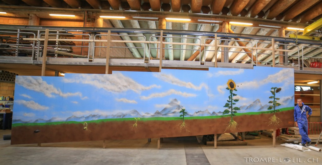 Peinture paysage tournesol