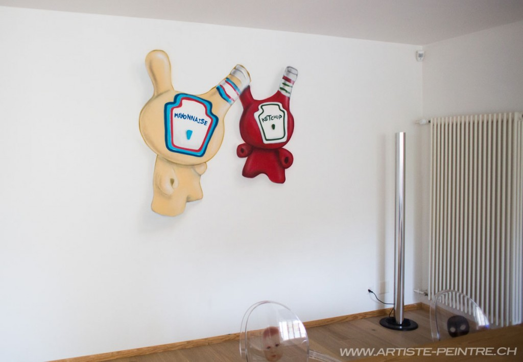 Artiste peinture suisse personnage cuisine